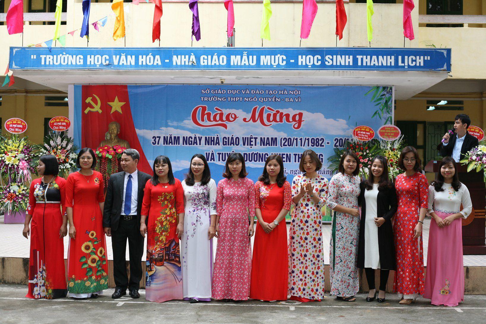Lễ đón Trường chuẩn quốc gia và kỉ niệm ngày nhà giáo Việt Nam